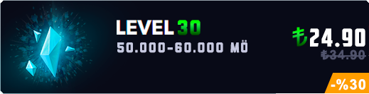 <b>TR</b> 50-60K Mavi Öz Unranked Hesap