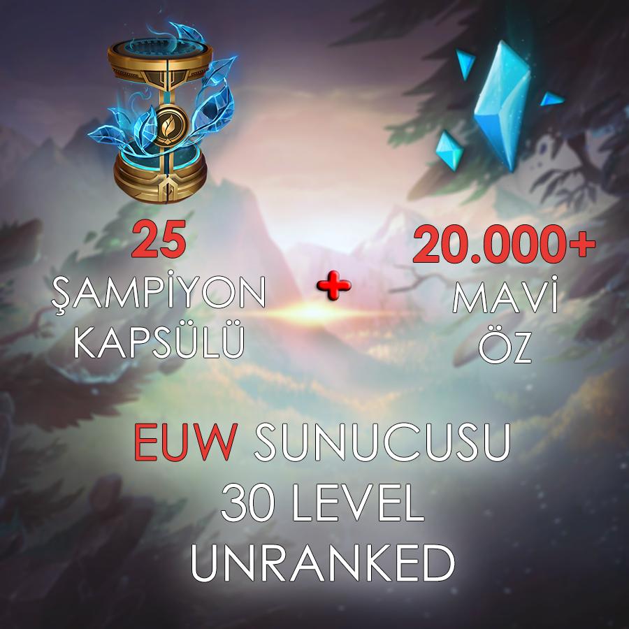 EUW 30 Level Unranked Hesap