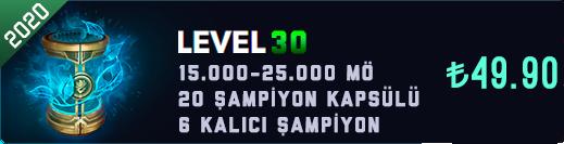 <b>EUW</b> 30 Level & 15-25K Mavi Öz & 20 Kapsül Unranked Hesap [2020]