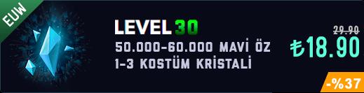 <b>EUW</b> 50-60K Mavi Öz Unranked Hesap