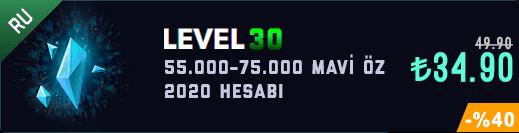 <b>RU</b> 55-70K Mavi Öz Unranked Hesap [2020]