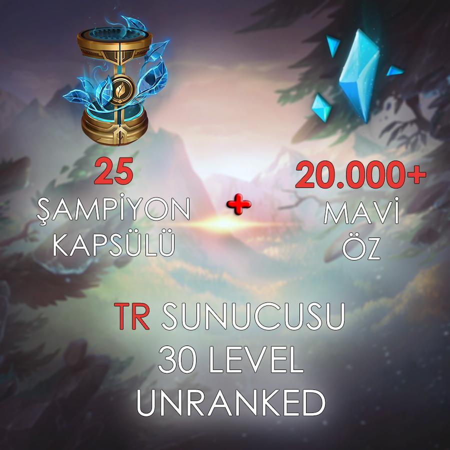 TR 30 Level Unranked Hesap