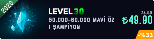 <b>TR</b> 50-60K Mavi Öz Unranked Hesap [2020]