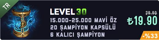 TR 30 Level & 15-20K Mavi Öz & 20 Kapsül Unranked Hesap