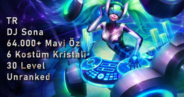<b>TR</b> DJ Sona & 6 Kostüm Kristali & 64K Mavi Öz